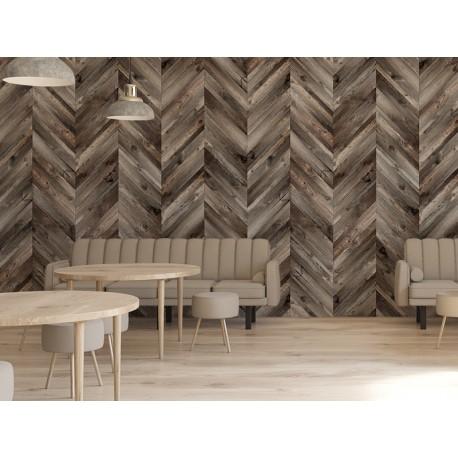 Fotomural cafetería madera espiga