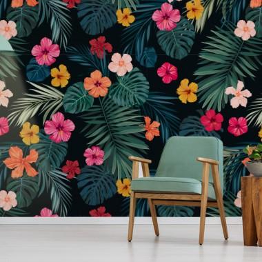 Fotomural recibidor floral tropical