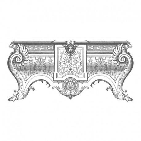 Vinilos decorativos: transparente sinfonier barroco