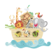 Vinilos decorativos: infantiles animales arca 1