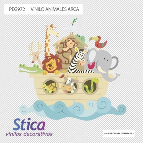 Vinilos decorativos: infantiles animales arca 3
