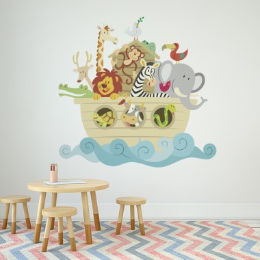 Vinilos decorativos: infantiles animales arca 0