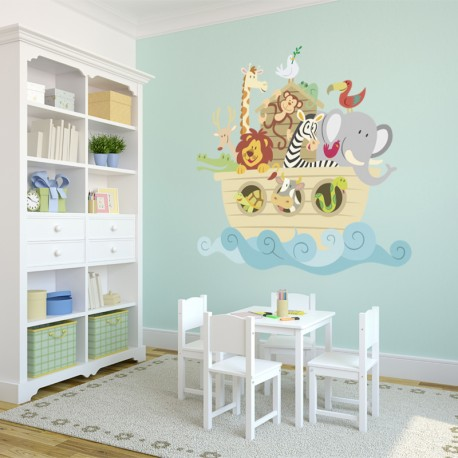 Vinilos decorativos: infantiles animales arca 2