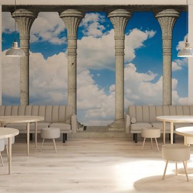 Fotomurales: mirador nubes en cafetería