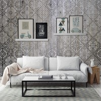Fotomural hormigón mosaico