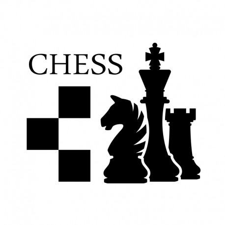 Pegatinas decorativos: ajedrez chess