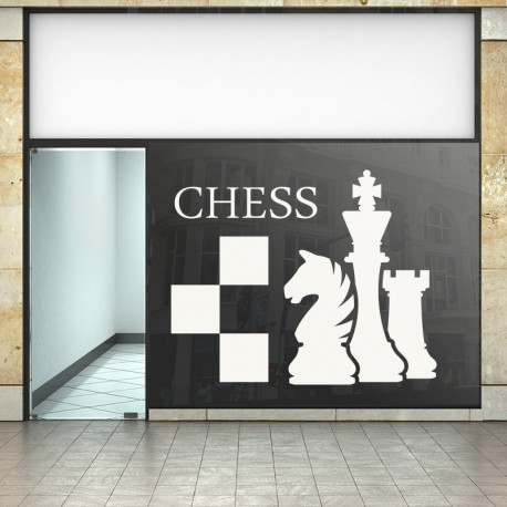 Vinilos decorativos: para comercios ajedrez chess