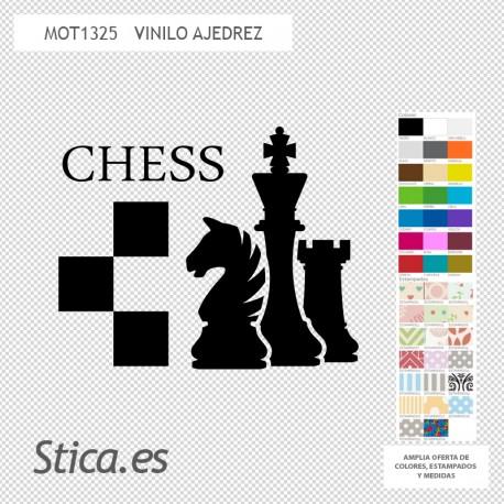 Vinilos decorativos: ajedrez chess 1