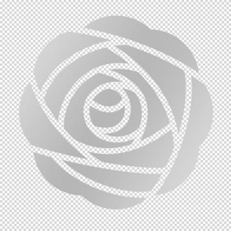Vinilos: translúcidos flor para ducha