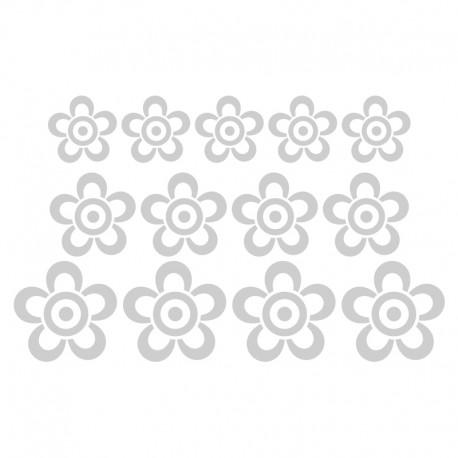 Vinilos: translúcidos flores conjunto 2