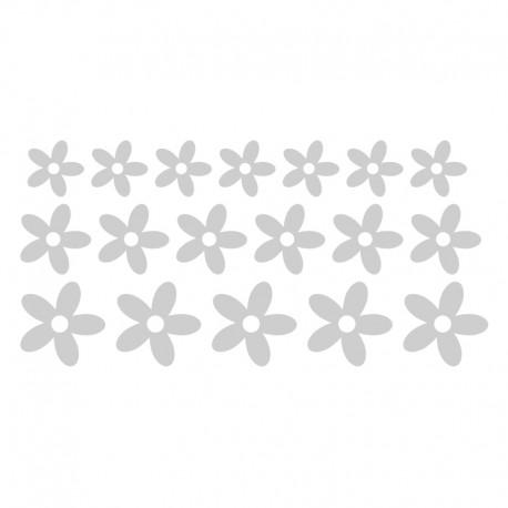 Vinilos: para cristales flores en kit 2