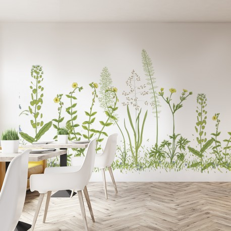 Vinilos transparentes flores silvestres