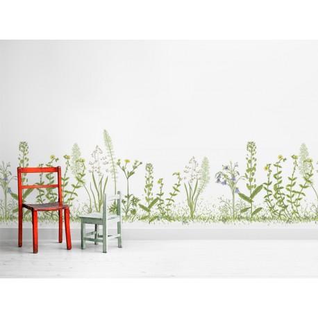 Vinilos transparentes flores silvestres en pasillo