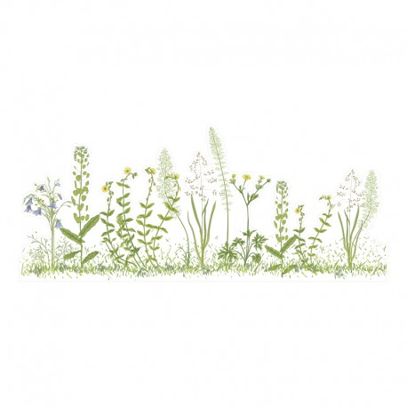 Vinilos transparentes a medida flores silvestres