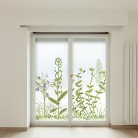 Vinilos translúcidos impreso floral silvestre
