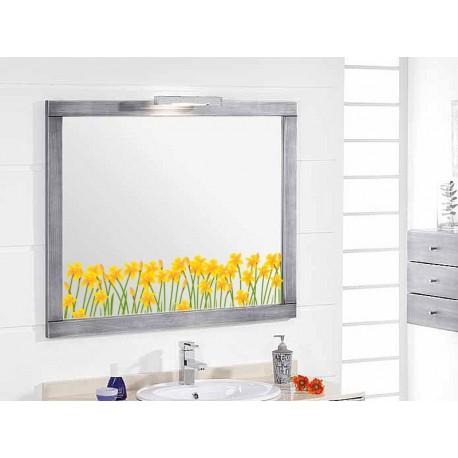 Vinilo Flores Amarillas Espejo imagen vista previa