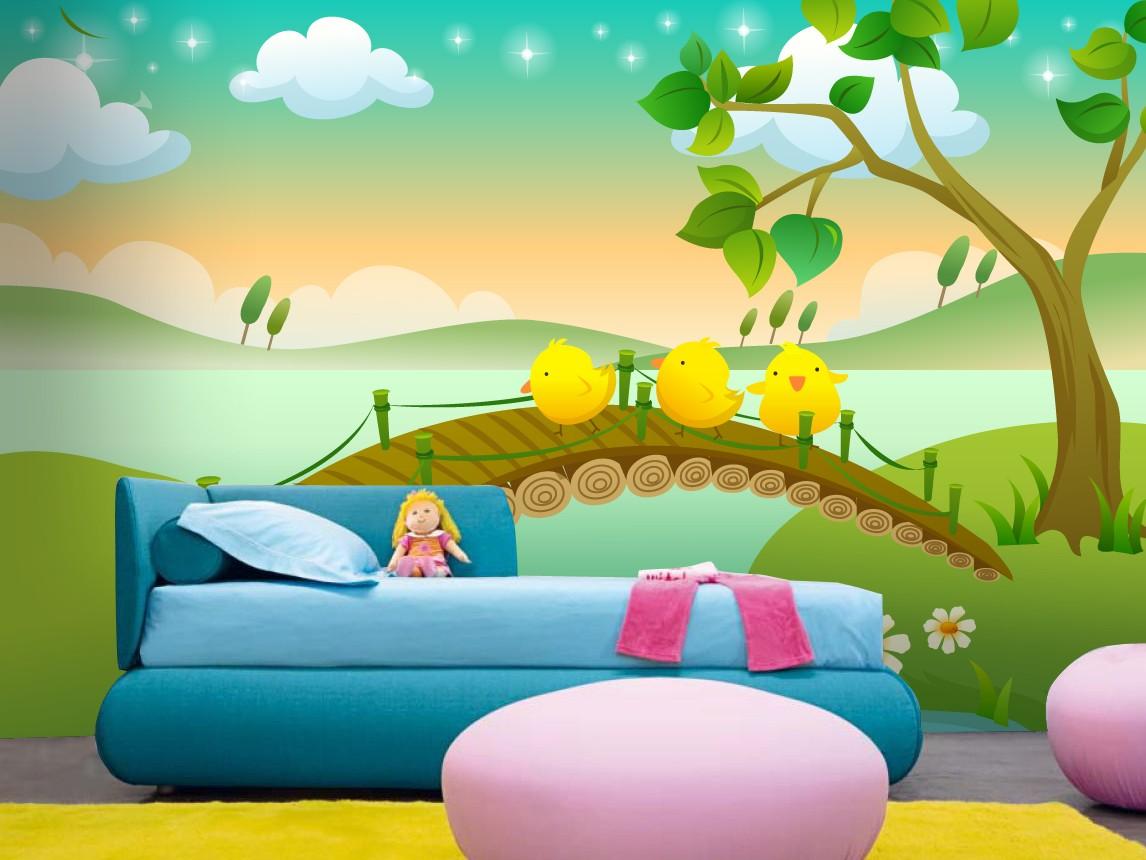 Paisajes infantiles para decorar paredes decoracion con for Fotomurales infantiles