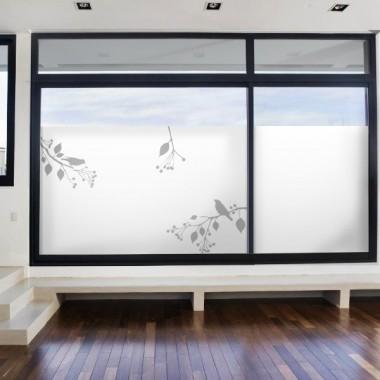 Vinilo translúcido pájaros impreso sombras
