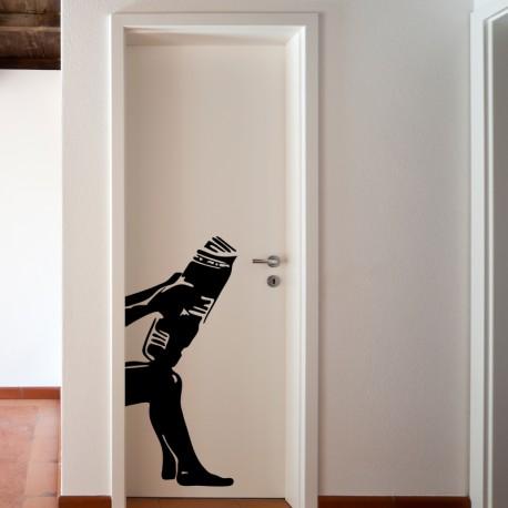 Vinilo para puerta de baño ambiente