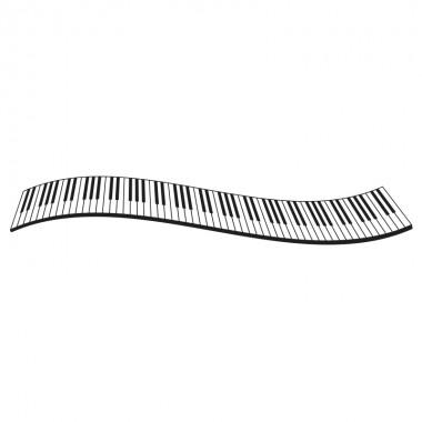 Vinilo piano teclado