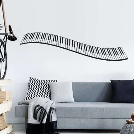 Piano en vinilo en salón