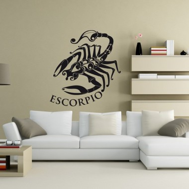 Horóscopo Escorpio I decoración con vinilo