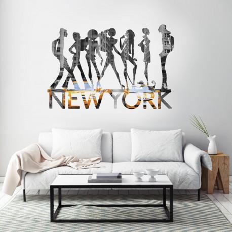 Vinilo Nueva York Fashion en salón