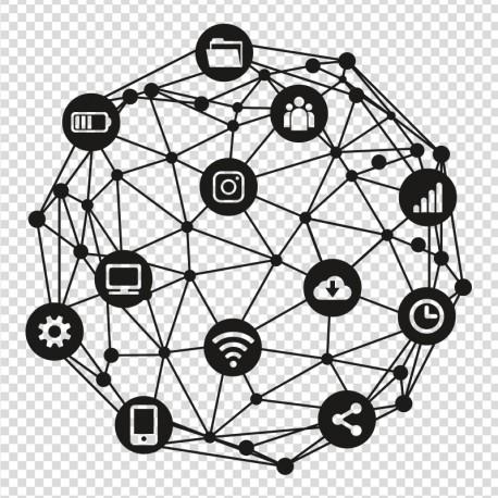 Vinilo informática conectividad