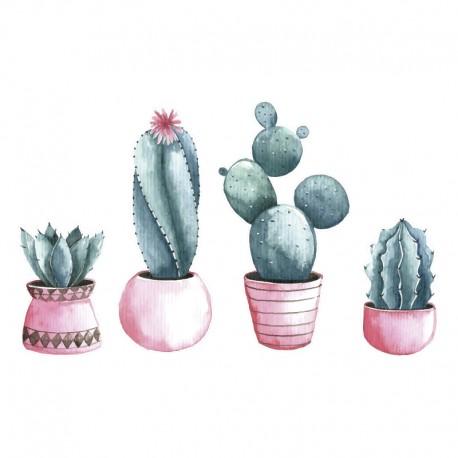 Vinilo cactus transparente