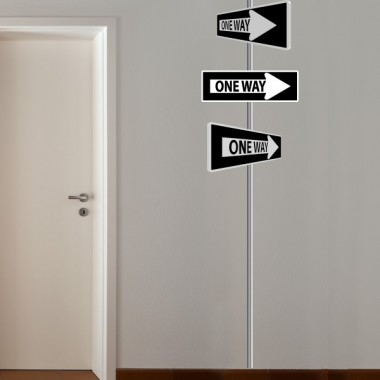 adhesivo decorativo One Way Pared
