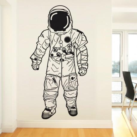 Vinilo astronauta transparente