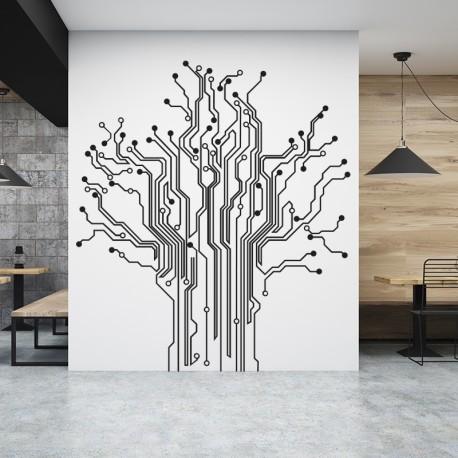 Vinilo informática árbol