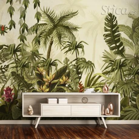 Fotomural jungla colonial a medida