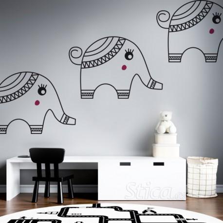 Vinilo decorativo elefante Bantu