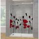 Vinilo para ducha amapolas