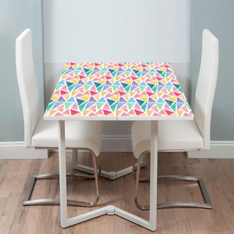 Vinilo mesa mosaico de colores