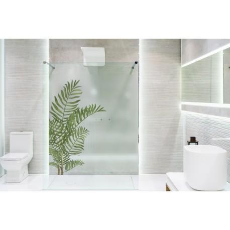Vinilo translúcido plantas para ducha