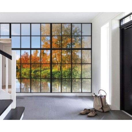 Fotomural ventana industrial