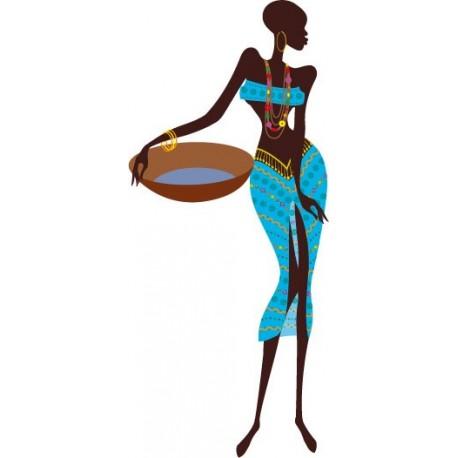 pegatina pared Madagascar Mujer II