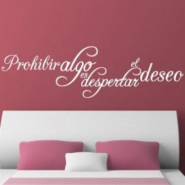 pegatina decorativa Prohibir el deseo