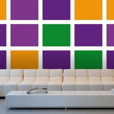 vinilos imagen producto Fotomural Colorida Geometría