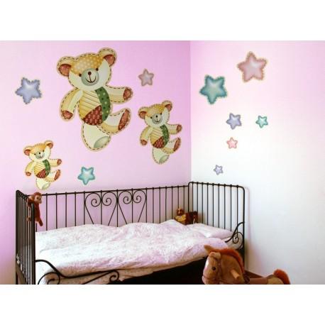 Osito Estrellas Composición adhesivo decorativo ambiente