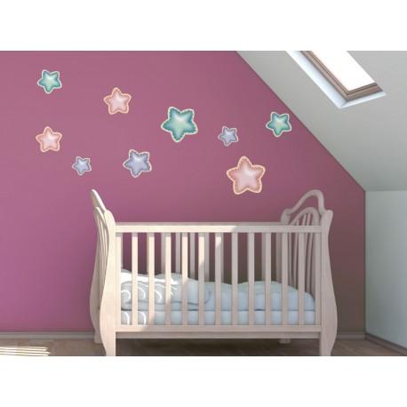 adhesivo decorativo Estrellas Felices Sueños