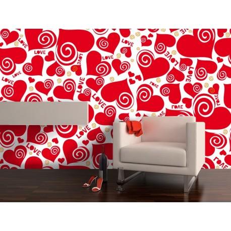 adhesivo decorativo Fotomural Corazones Love