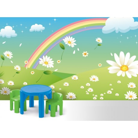 pegatina pared Fotomural Flores Alfy