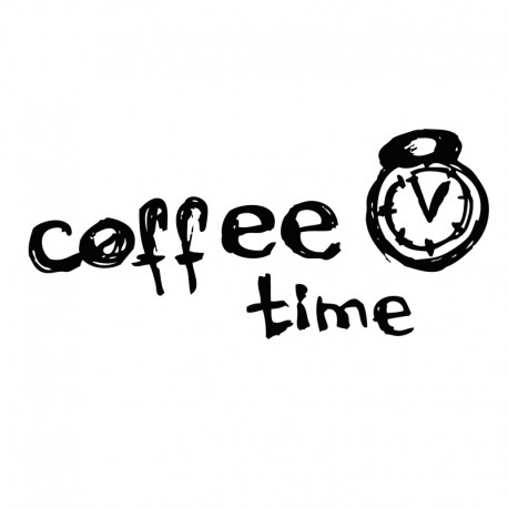 pegatina café