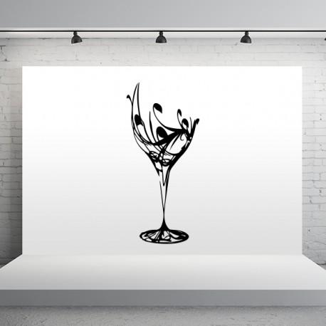 Pegatina copa fantasía