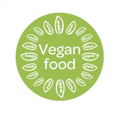 Pegatina comida vegana a medida