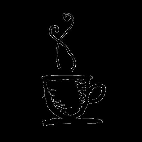 Vinilo café taza