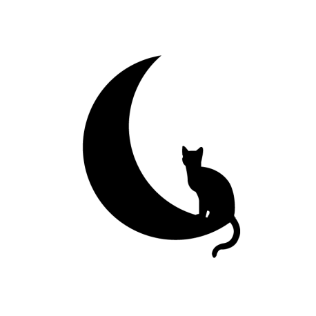 Vinilo gato en luna